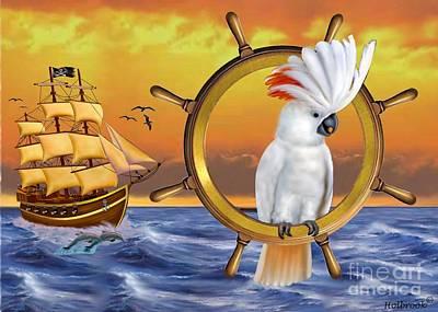 Cockatoo Digital Art - Cockatoo Treasure Quest by Glenn Holbrook