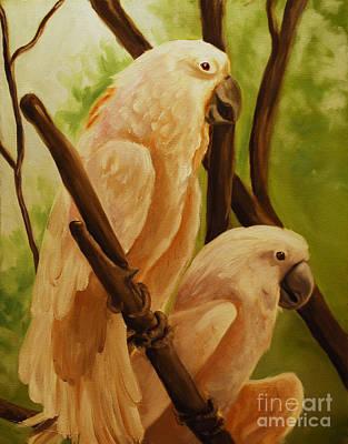 Painting - Cockatoos by Nancy Bradley