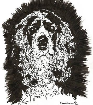 Cocker Spaniel Drawing - Cocker Spaniel - Nutmeg by Jerrett Dornbusch