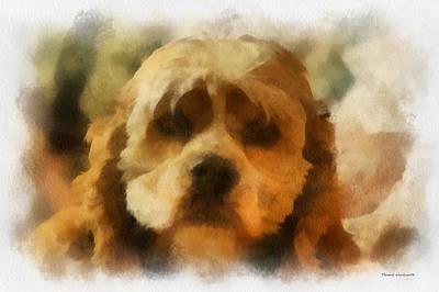 Woodcock Digital Art - Cocker Spaniel Photo Art 03 by Thomas Woolworth