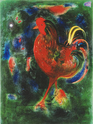 Rooster Photograph - Cockerel, 2005 Giclee Print by Jane Deakin