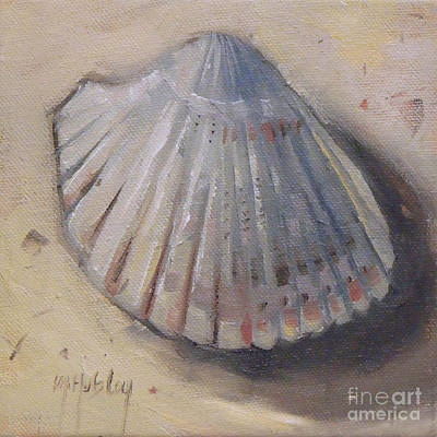 Cockle Shell Beach Seashell Art Print by Mary Hubley
