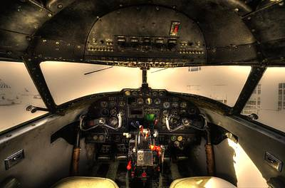 Photograph - Cockpit - Lockheed Model 18 Lodestar by David Morefield