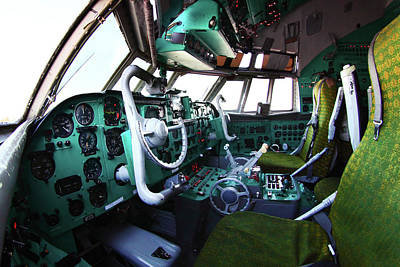 Ilyushin Photograph - Cockpit Of An Il-62m Airliner by Artyom Anikeev