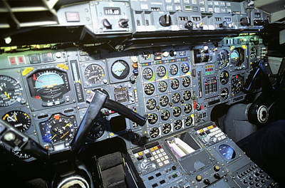Cockpit Of Concorde Sst - Supersonic Art Print