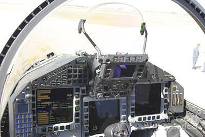 Railroad - Cockpit View Of A Eurofighter Typhoon by Timm Ziegenthaler