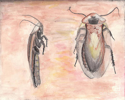 Cockroach Painting - Cockroach by Chris Tetreault