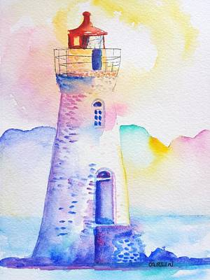 Painting - Cockspur Lighthouse by Carlin Blahnik