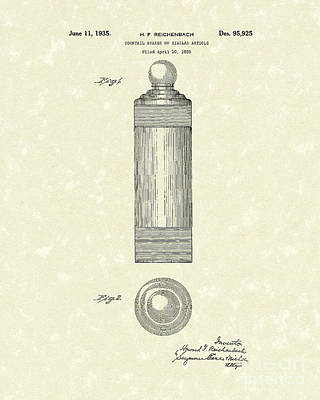 Drawing - Cocktail Shaker 1935 Patent Art by Prior Art Design