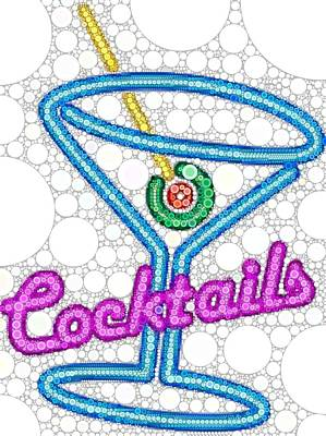 Martini Digital Art - Cocktail Sign by Cindy Edwards