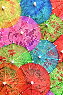 Closeup Photograph - Cocktail Umbrellas Vi by Tom Mc Nemar