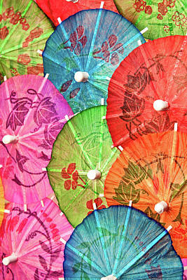 Closeup Photograph - Cocktail Umbrellas Vii by Tom Mc Nemar