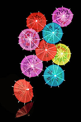 Closeup Photograph - Cocktail Umbrellas Viii by Tom Mc Nemar