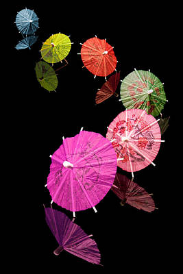 Colorful Photograph - Cocktail Umbrellas Xii by Tom Mc Nemar