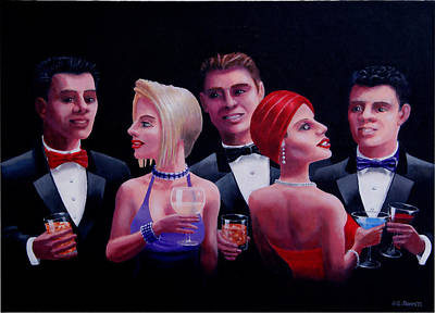 Cocktails Art Print by GG James
