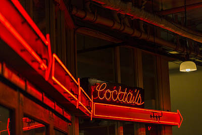 Martini Royalty-Free and Rights-Managed Images - Cocktails In Neon by Scott Campbell