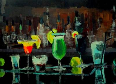 Absinthe Painting - Cocktails Of Truth by Maria Mimi