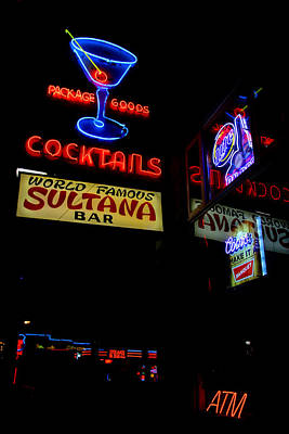 Photograph - Cocktails Sign by Deb Buchanan