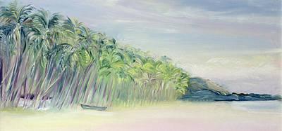Neighbouring Painting - Coco Beach Goa India by Sophia Elliot