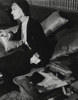 Coco Chanel In Her Apartment Art Print