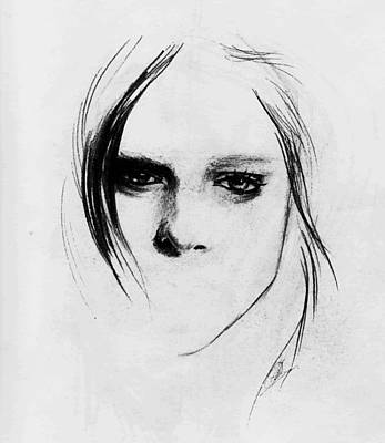 Drawing - Coco Rocha by Alexandra-Emily Kokova