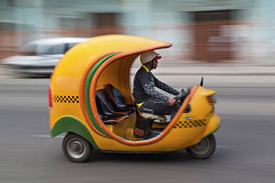 Photograph - Coco Taxi In Motion by Adam Jones