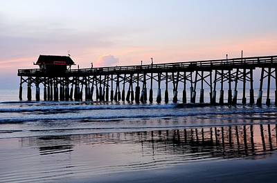 Photograph - Cocoa Beach Pier In Early Morning by Bradford Martin