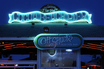 Photograph - Cocoa Beach Pier Oh Shucks by Bradford Martin