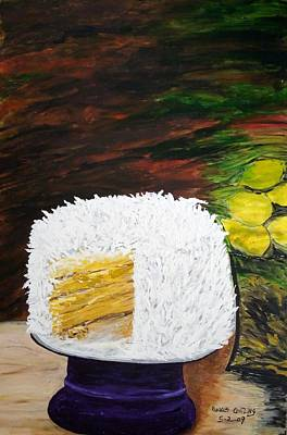 Painting - Coconut Cake by Randolph Gatling