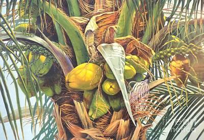Sandra Williams Painting - Coconut Courtship by Sandra Williams