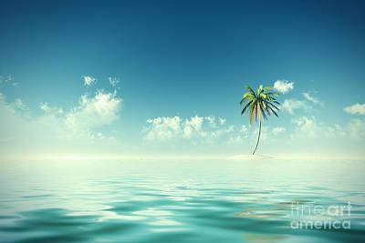 Coconuts Digital Art - Coconut Island Sunshine by Aleksey Tugolukov