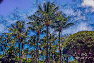 Immaculate Mixed Media - Coconut Tree's by John Watson