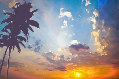 Coconut Trees In The Sunset Original by Dominique Amendola