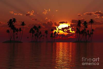 Coconuts Digital Art - Coconut Tropic Islands by Aleksey Tugolukov