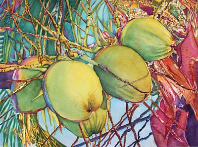 Coconuts At Sunset Art Print