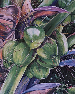 Nut Painting - Coconuts  by John Clark