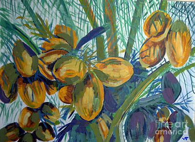 Art Print featuring the painting Coconuts by Vicky Tarcau