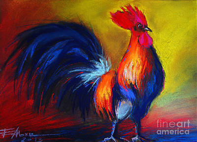 Exhibitions Painting - Cocorico Coq Gaulois by Mona Edulesco