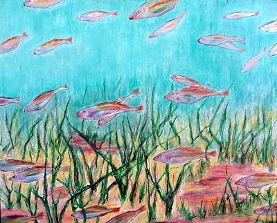 Pastel - Cod In The Grass by Daniel Dubinsky