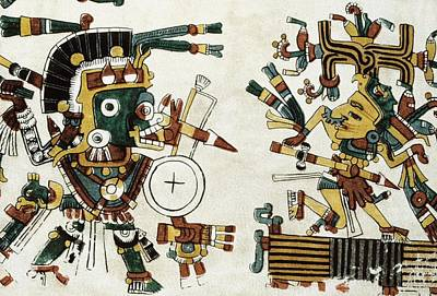 Precolumbian Photograph - Codex Cospi. Circa 15th C. Tlazolteotl by Everett