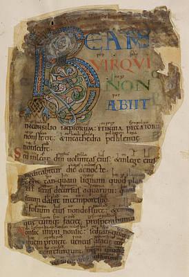 Book Illustrations Photograph - Codex Membran by British Library