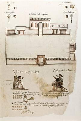 Colonial Man Photograph - Codex Osuna C�dice Osuna. 16th C by Everett