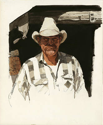 Cowboy Hat Painting - Cody Cowboy 2 by Don  Langeneckert