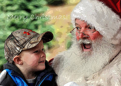 Photograph - Cody Santa Text 20583 Pe by Jerry Sodorff