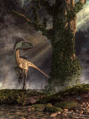 Triassic Digital Art - Coelophysis by Daniel Eskridge