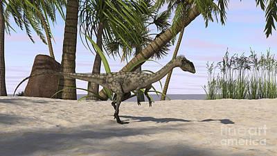 Coelophysis Digital Art - Coelophysis In A Prehistoric by Kostyantyn Ivanyshen