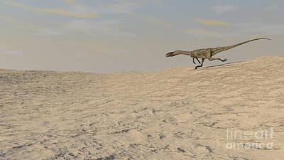 Coelophysis Digital Art - Coelophysis Running Across A Barren by Kostyantyn Ivanyshen