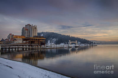 Photograph - Coeur D Alene Twilight by Idaho Scenic Images Linda Lantzy