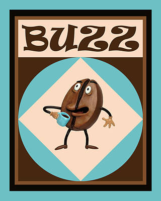 Claymation Painting - Coffee Buzz by Amy Vangsgard