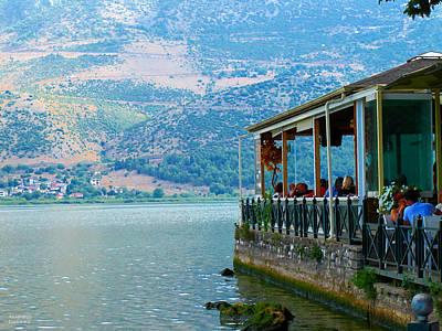 Photograph - Coffee Shop At The Lake by Alexandros Daskalakis